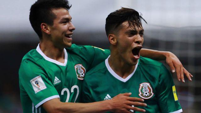 08/06/2018. Chucky Lozano Raúl Jiménez Wolves Fichaje Los Pleyers, Chucky y Raúl festejan un gol con el Tri.