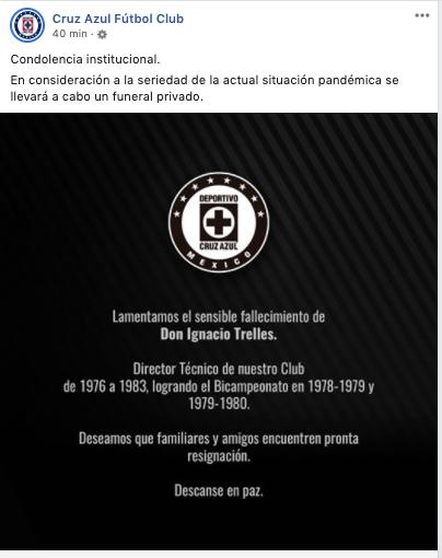 25/03/2020 Ignacio Trelles, Muere, Edad, Selección Mexicana Muerte Nacho Cruz Azul, Condolencias en Redes Sociales