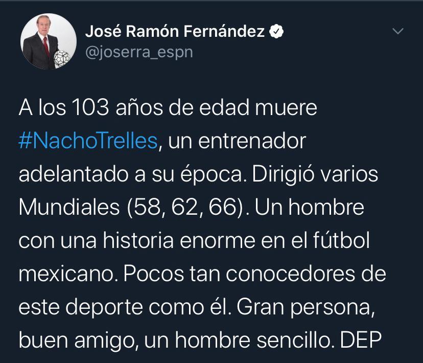 25/03/2020. José Ramón Fernández Nacho Trelles Los Pleyers, Tweet de Joserra.
