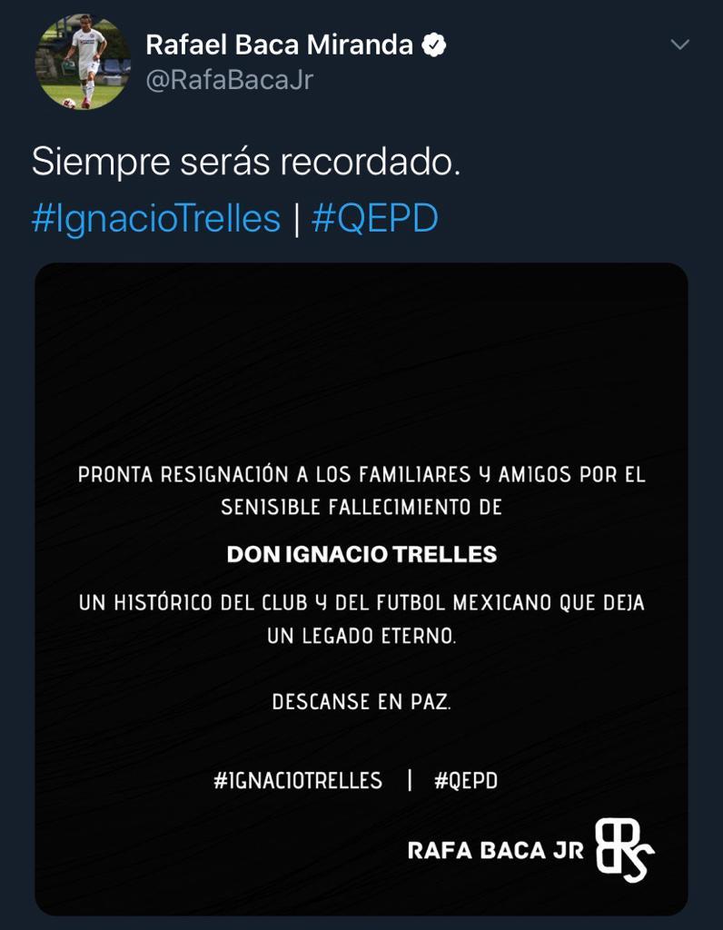 25/03/2020. Rafael Baca Nacho Trelles Los Pleyers, Tweet de Rafa Baca.