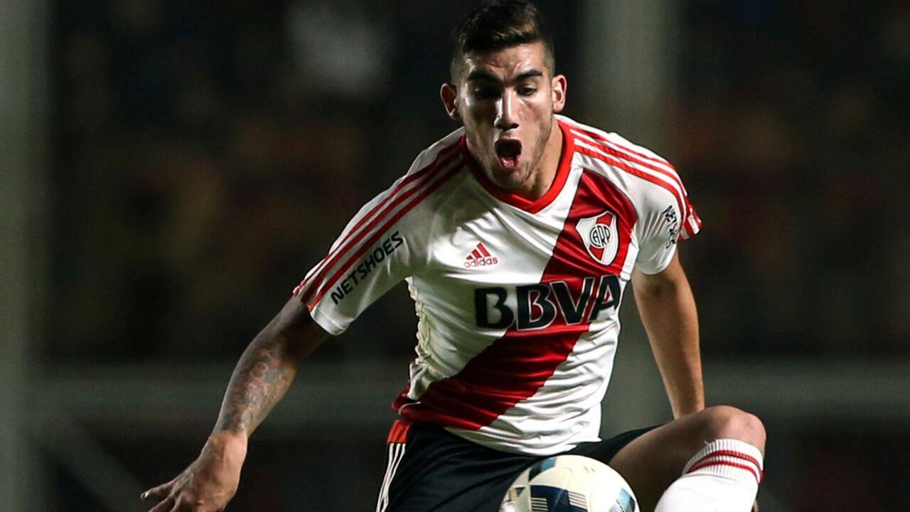07/05/2016. Coronavirus Ecuador Leandro Vega Muertos Los Pleyers, Leandro Vega en un partido con River Plate.