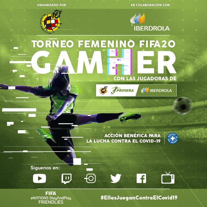 28/04/2020, Liga Iberdrola y Federación de España crean un torneo femenino de FIFA