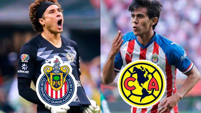 10/04/2020 Ochoa-JJ-Macias-America-Chivas-DTs Intercambio en Chivas y América