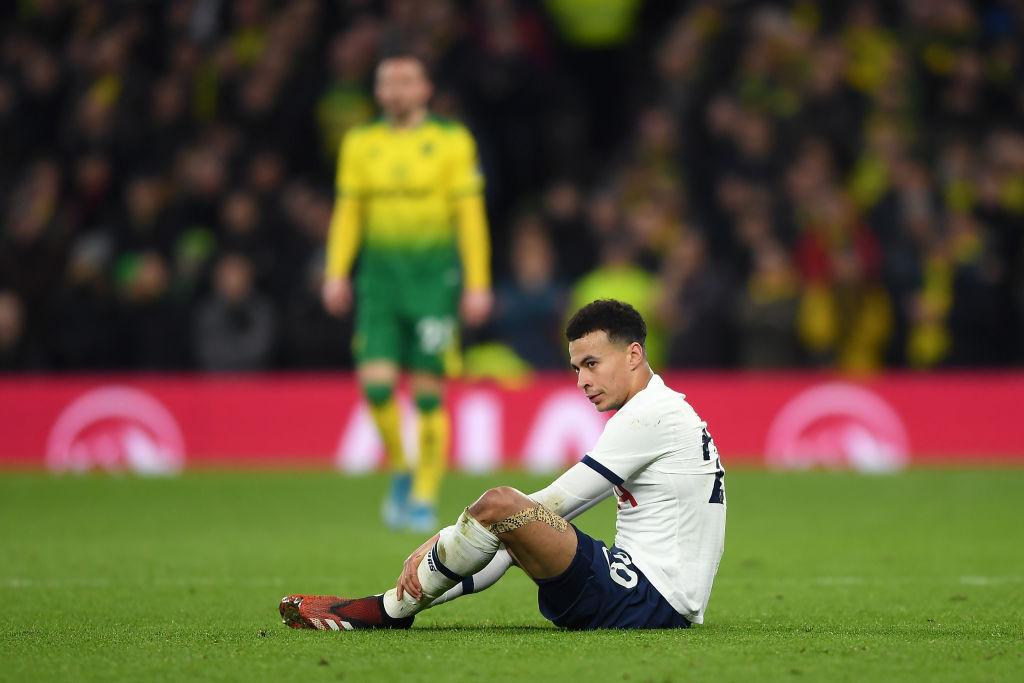 04/03/2020. Dele Alli Tottenham Asalto Casa Los Pleyers, Dele Alli tirado en un partido.