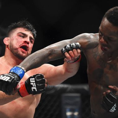 13/04/2019. Kelvin Gastelum UFC Suspensión Marihuana Los Pleyers, Kelvin Gastelum en un combate del 2019.