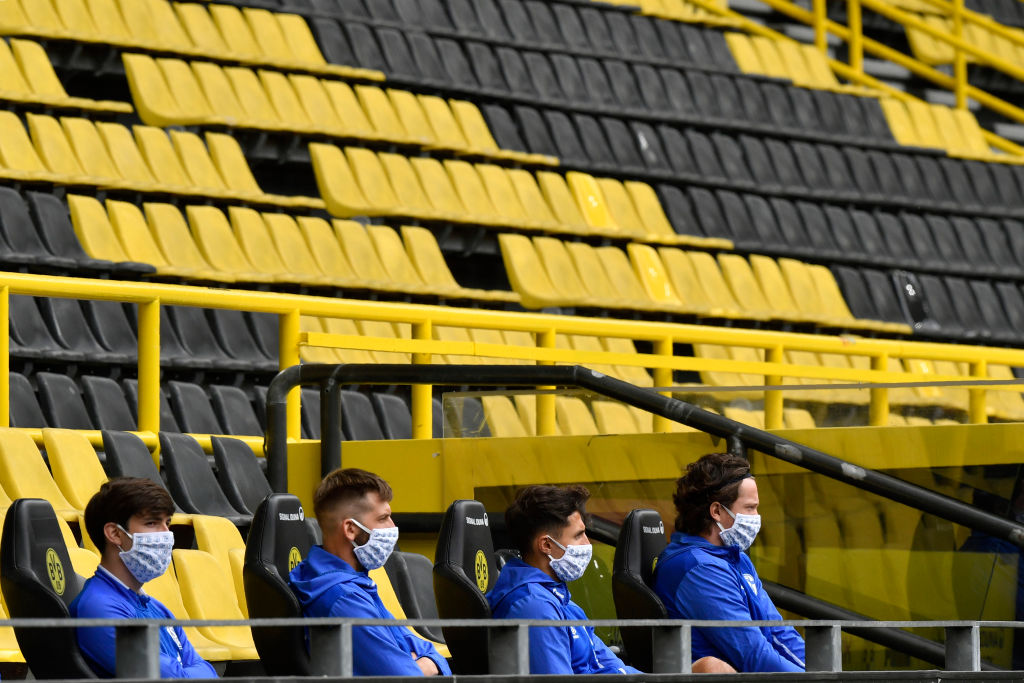 16/05/2020. Suplentes Schalke 04 Los Pleyers, Suplentes del Schalke 04.