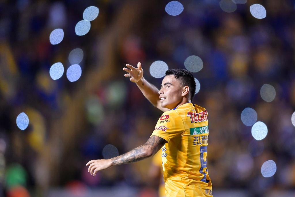 20/04/2019. Tigres Lucas Zelarayán Belgrano Demanda Los Pleyers, Lucas Zelarayán festeja un gol con Tigres.