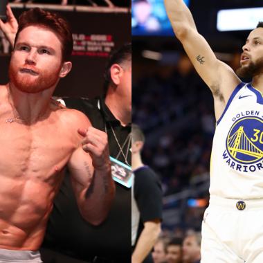 Canelo enseña boxeo a Stephen Curry y casi lo noquea 10/07/2020