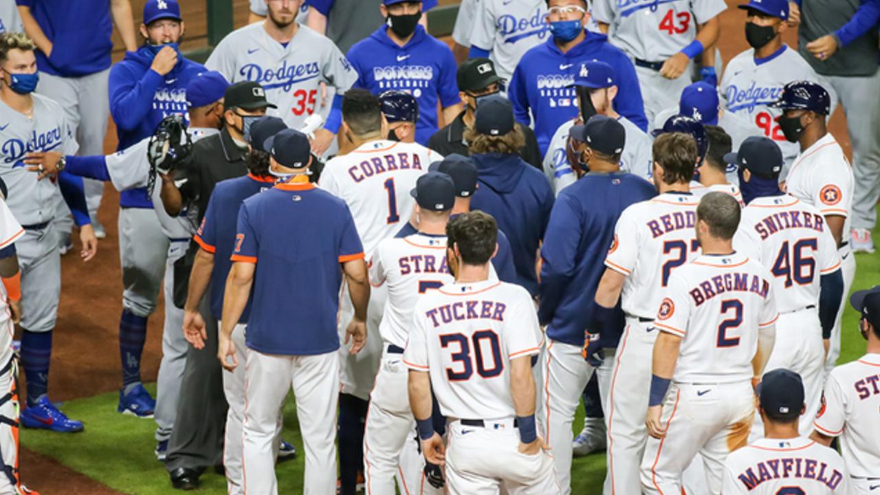 Astros y Dodgers protagonizan pelea en la MLB 29/07/2020