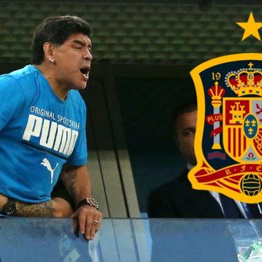 Maradona podría ser el nuevo entrenador de España 01/07/2020