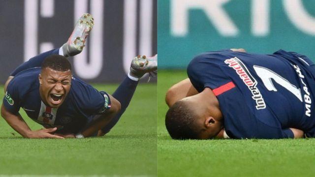 Mbappé deja solo al PSG para los Cuartos de Final de la Champions League por lesión 27/07/2020
