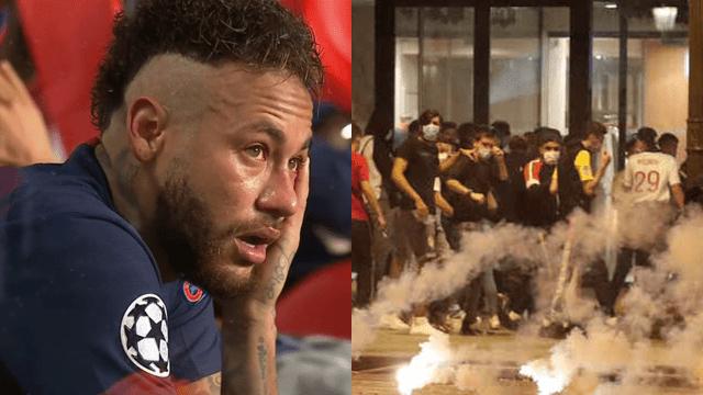 Aficionados del PSG generan disturbios tras derrota [VIDEO]