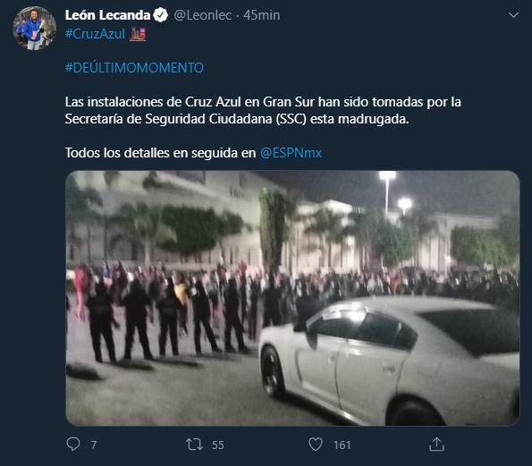 Policía toma el control de instalaciones del corporativo de Cruz Azul y no deja pasar a empleados
