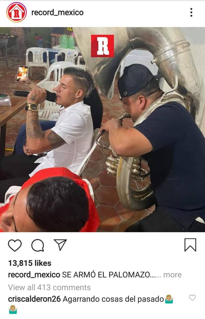 """Cachan a Cristian """"Chicote"""" Calderón de fiesta pero el jugador de Chivas sale a defenderse"""