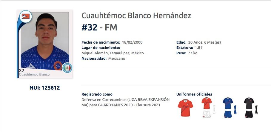 Cuauhtémoc Blanco Hernández Correcaminos Los Pleyers