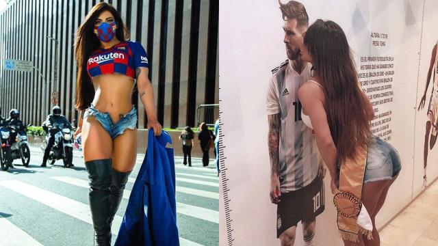 Susy Cortez ama a Messi y mandó una carta de despedida