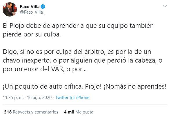 Paco Villa America Los Pleyers