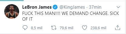 LeBron James mandó un mensaje claro a Estados Unidos