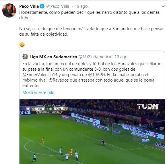 Tuit Paco Villa Veto Tigres Los Pleyers