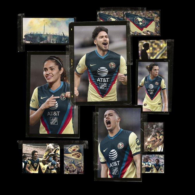 Emmanuel Aguilera y Jorge Sánchez con el nuevo uniforme del América