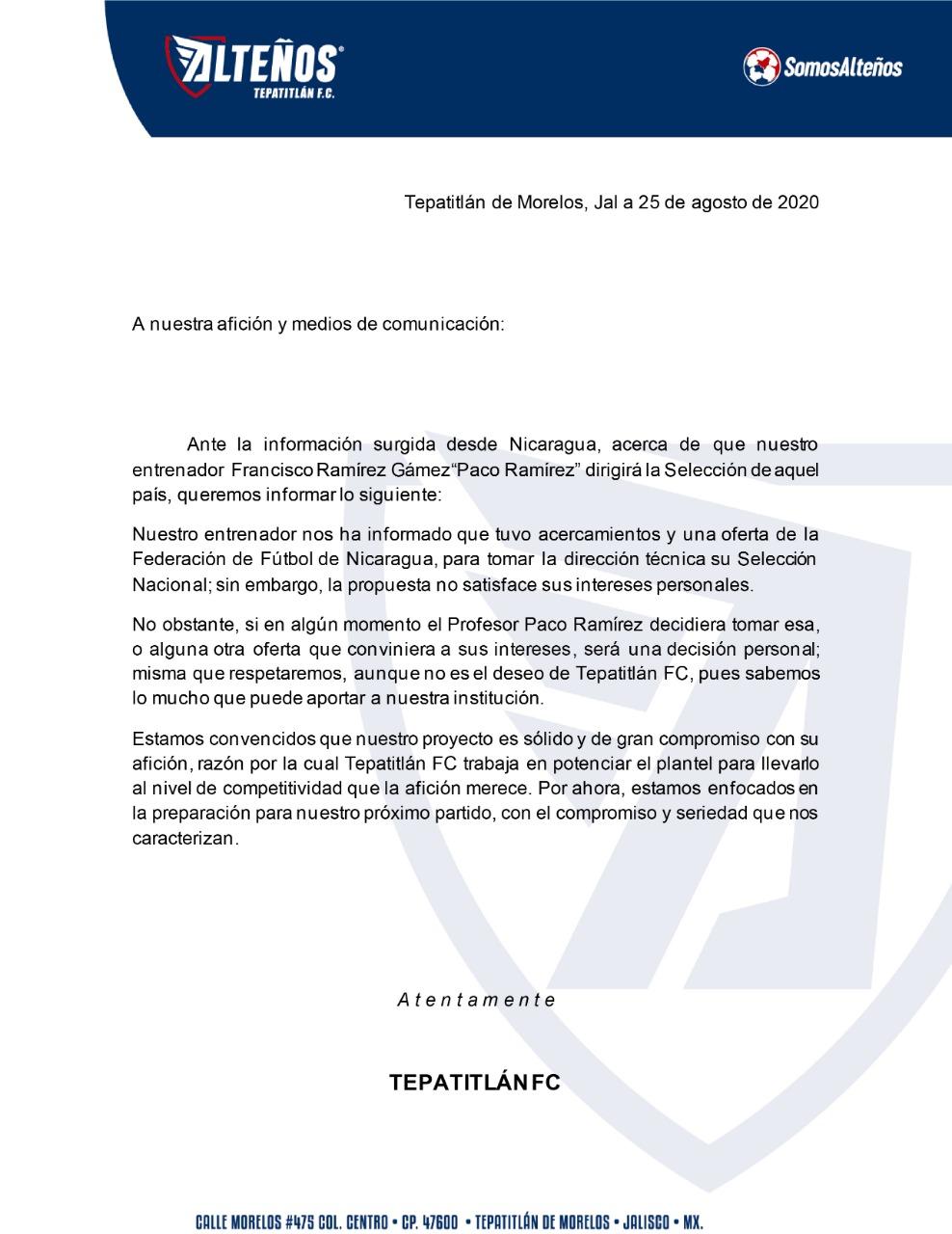 Entrenador de la Liga de Expansión rechaza a la Selección de Nicaragua