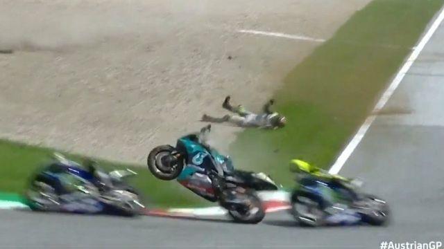 Moto GP: Escalofriante accidente en el GP de Austria [Video]