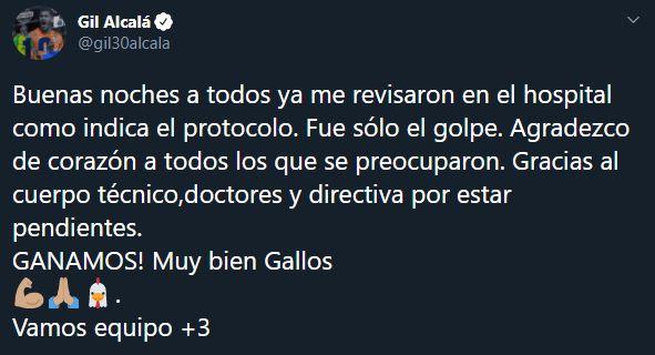 Gil Alcalá es enviado al hospital tras golpearse la cabeza
