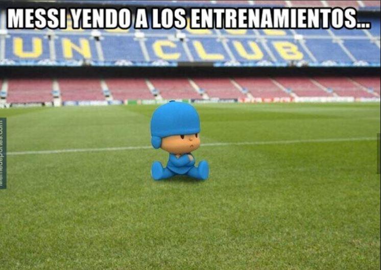 Messi en los entrenamientos