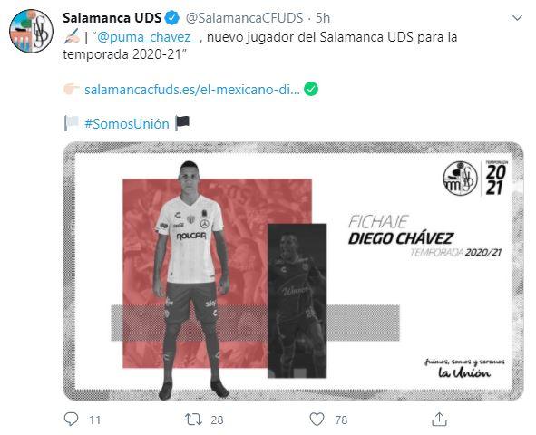 Presentación de Diego Chávez con el Salamanca
