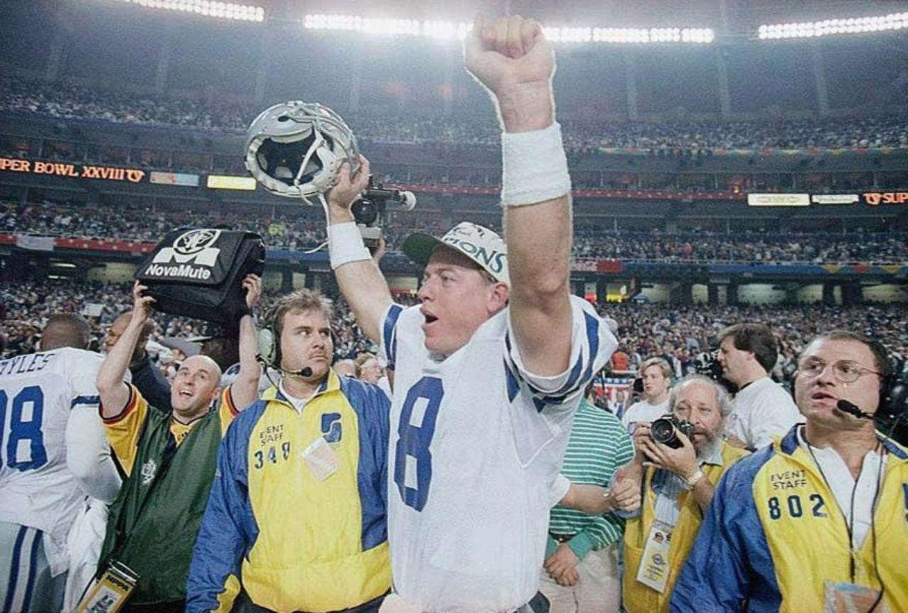 troy aikman ganando Super Bowl