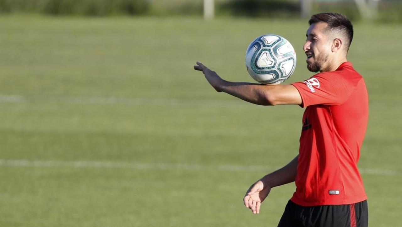 Hector Herrera entrenamiento Atlético de Madrid
