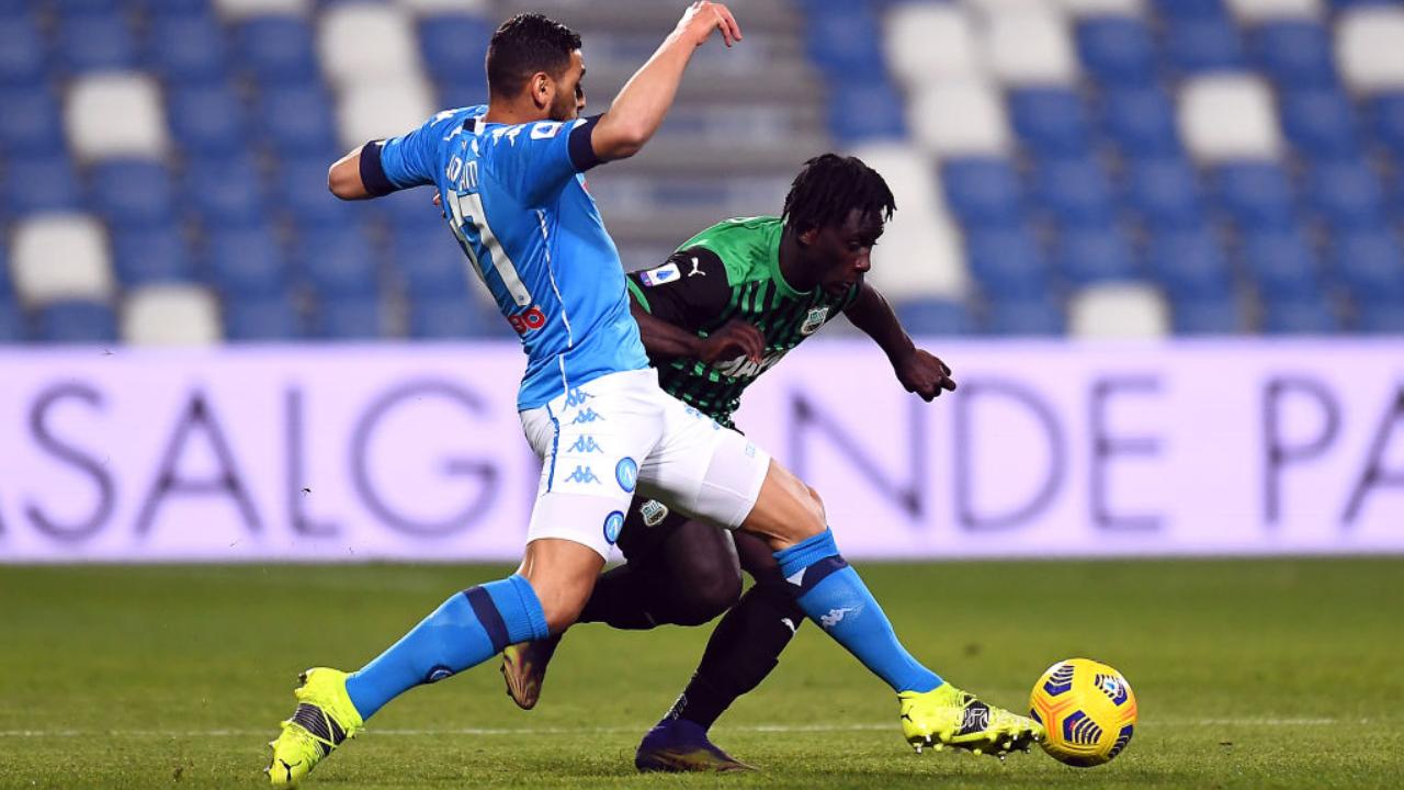 Sassuolo y Napoli repartieron puntos