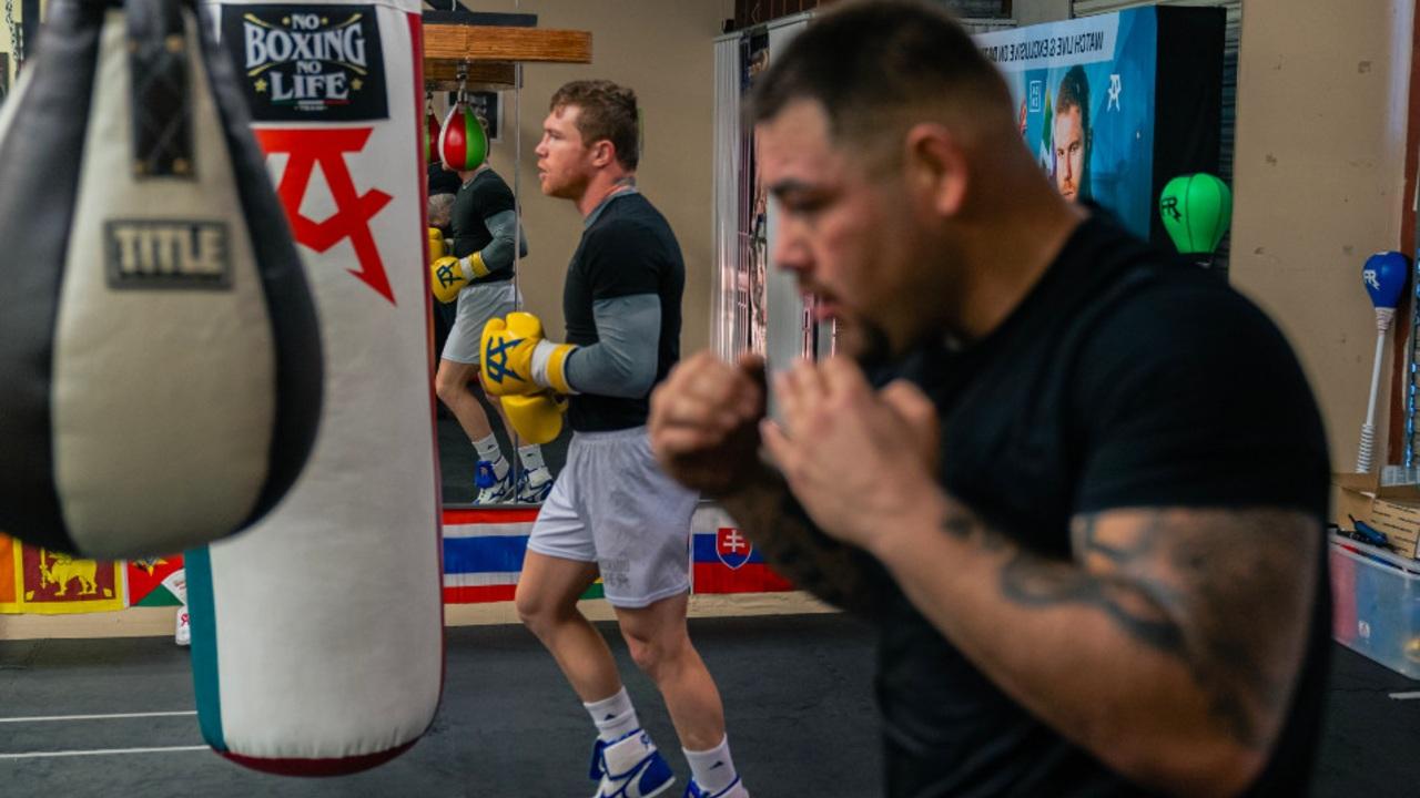 Andy Ruiz entrenamiento canelo álvarez eddy reynoso
