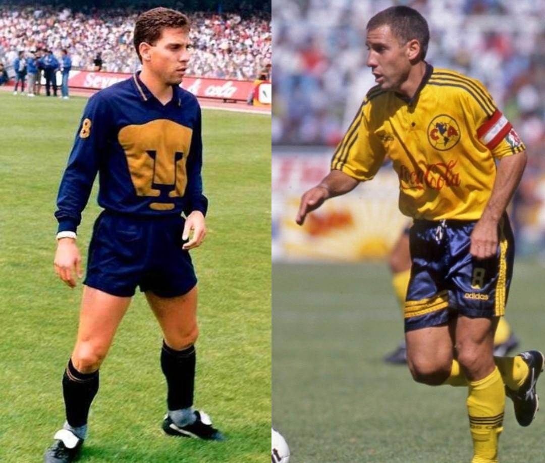 América Pumas jugadores ambos equipos Alberto García Aspe
