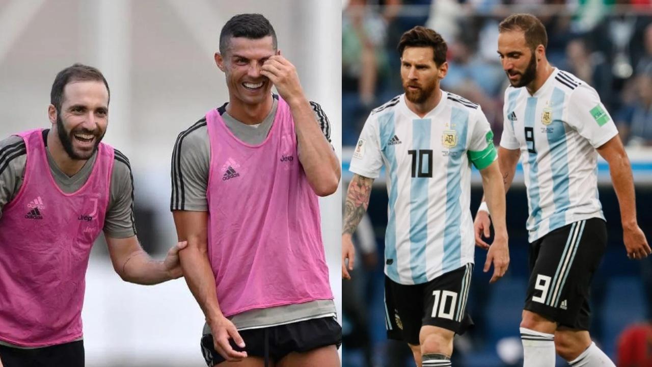 Gonzalo Higuaín Messi Cristiano se entendió