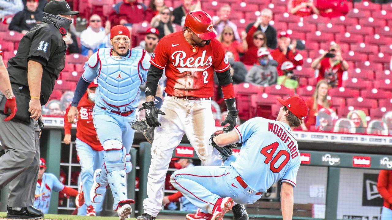 Cardinals Reds MLB pelea campal temporada 2021