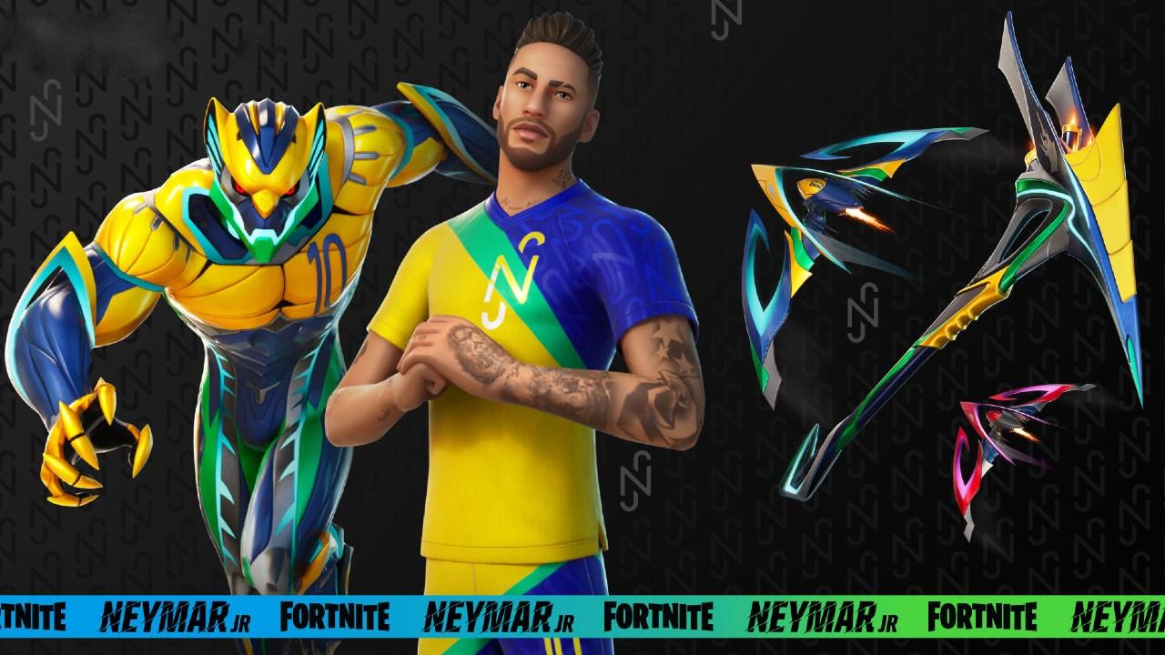 Neymar fortnite skin epic games videojuegos