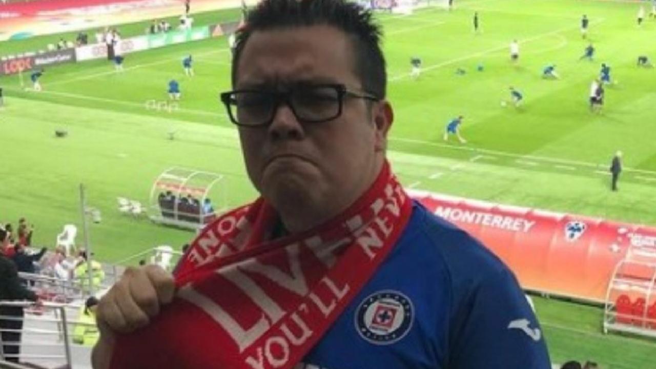 Así festejó el comediante Franco Escamilla la anotación de Cruz Azul en la gran final de ida