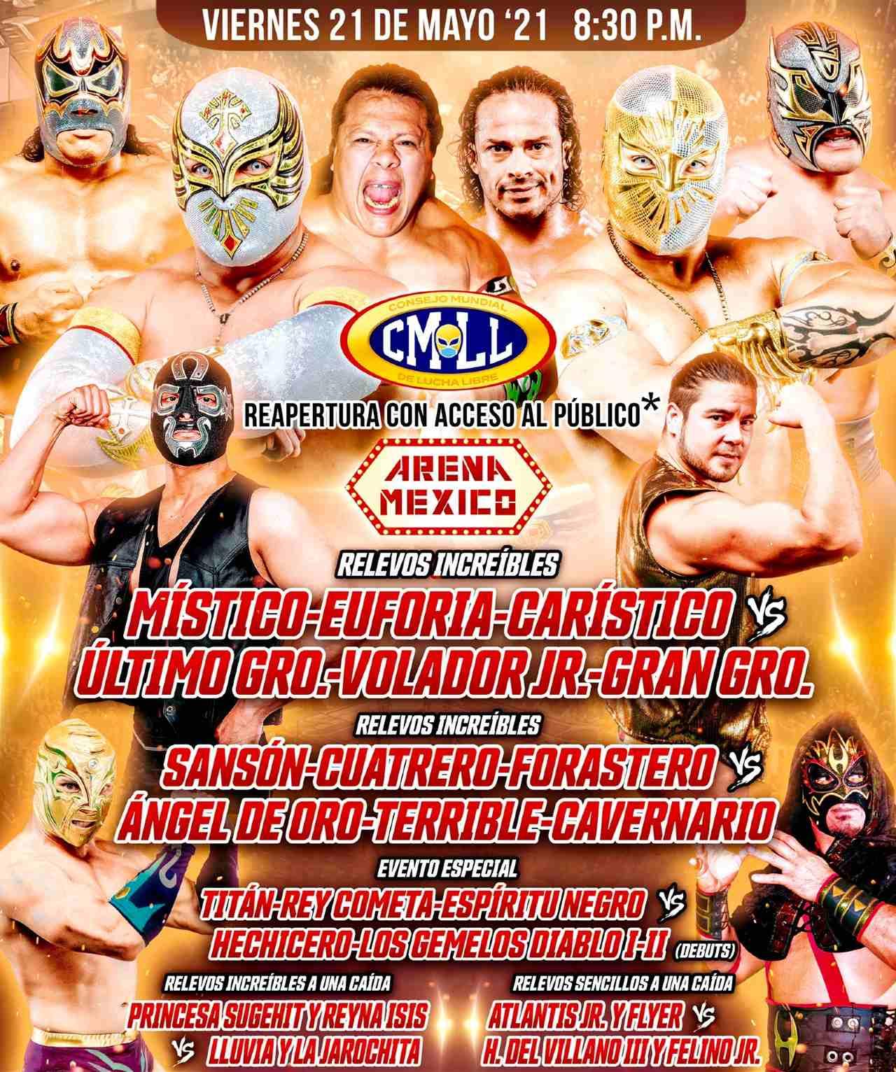 CMLL regreso aficionados Arena México