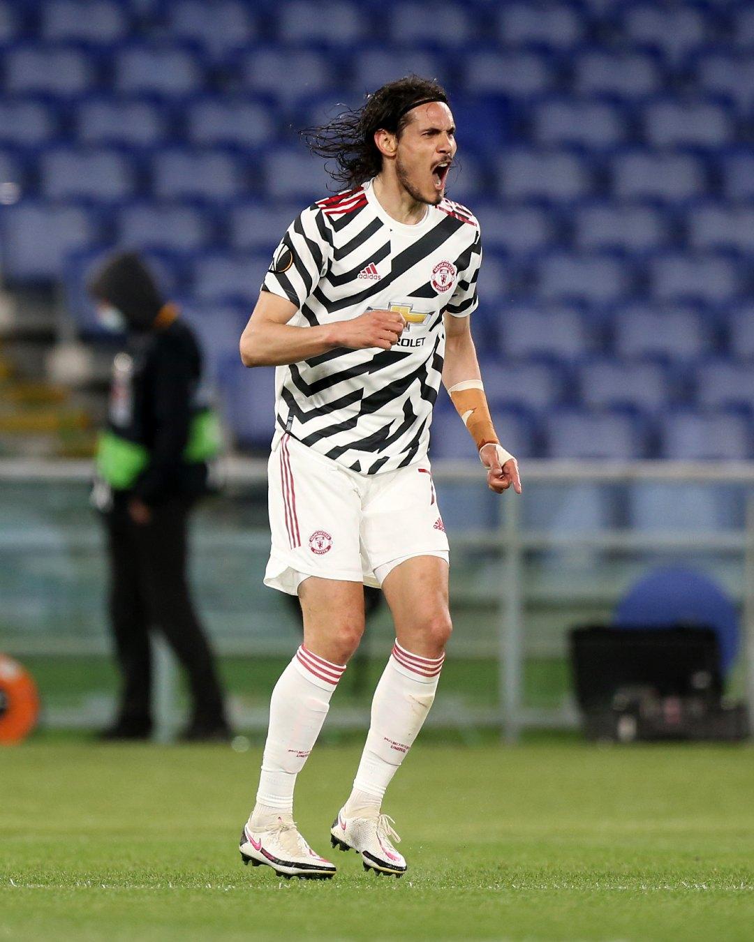 Edinson Cavani Manchester United gol Roma