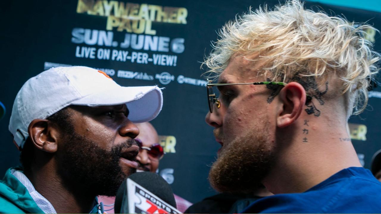 Floyd Mayweather Jake Paul logan paul pelea