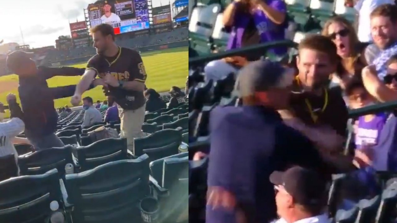 Padres de San Diego rockies pelea mlb