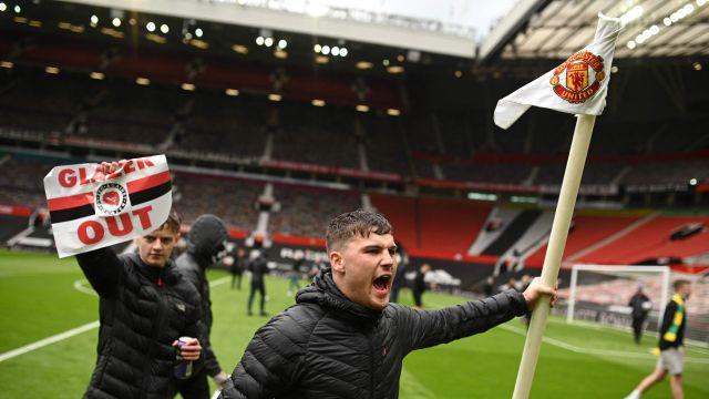 Manchester United Liverpool manifestaciones Old Trafford