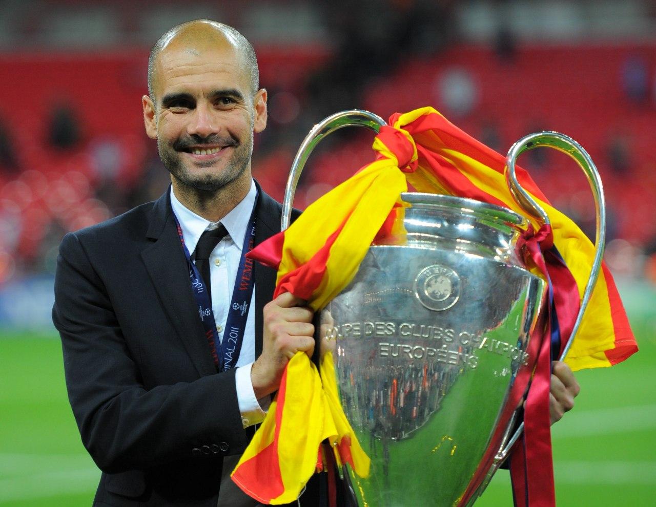 Champions League jugadores entrenadores campeones Pep Guardiola