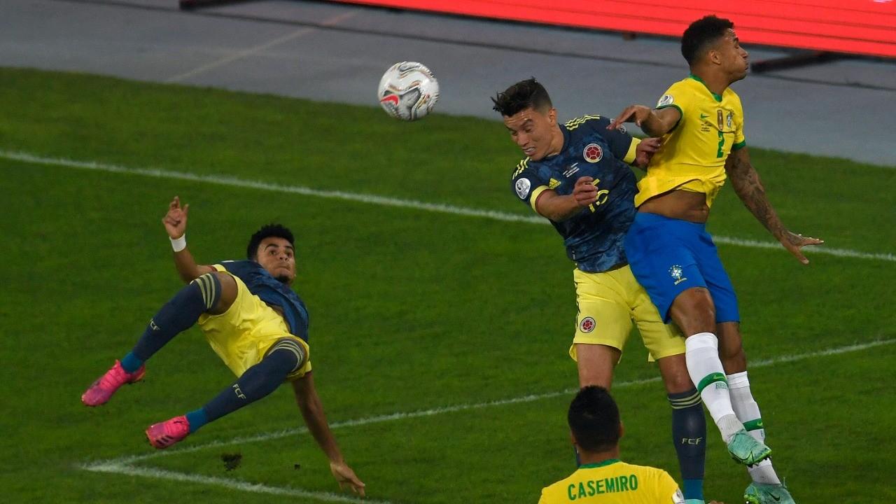 Copa América 2021: Luis Díaz hace un golazo de tijera ante Brasil