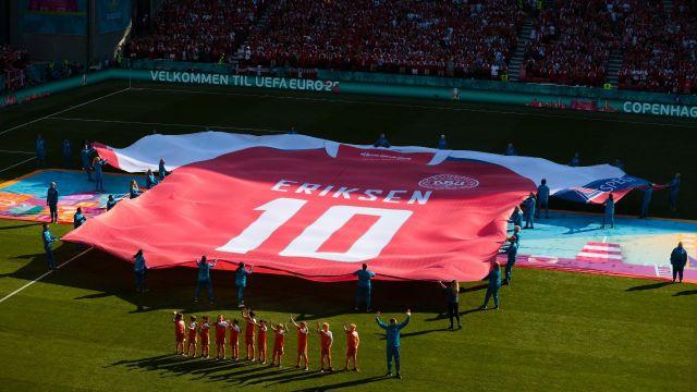 Eurocopa 2020 Dinamarca homenaje Christian Eriksen