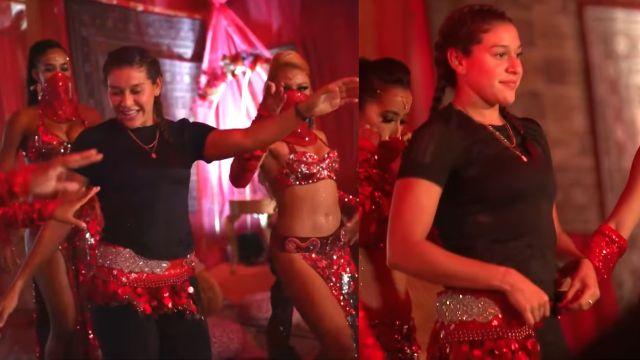 Norma Palafox demuestra sus grandes dotes para el baile con danza árabe