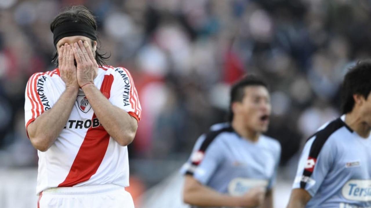 Jugadores de River Plate descenso
