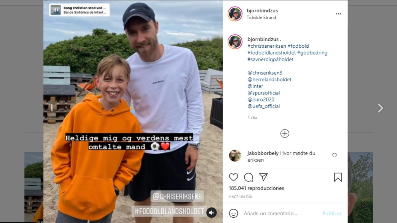 Christian Eriksen dinamarca foto accidente