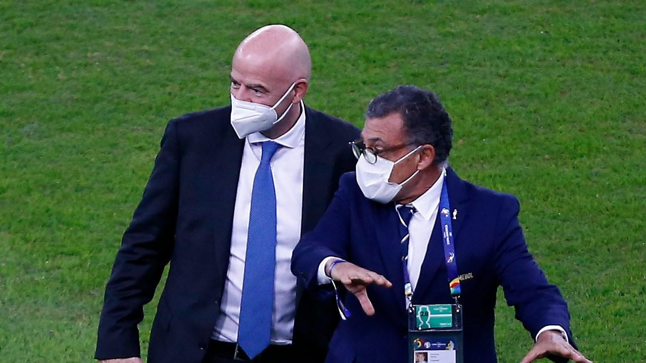 Gianni Infantino presente Copa América